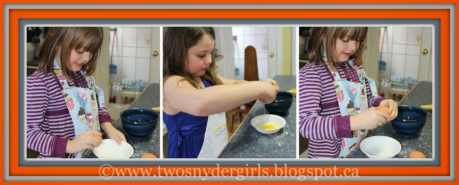 Children cracking eggs