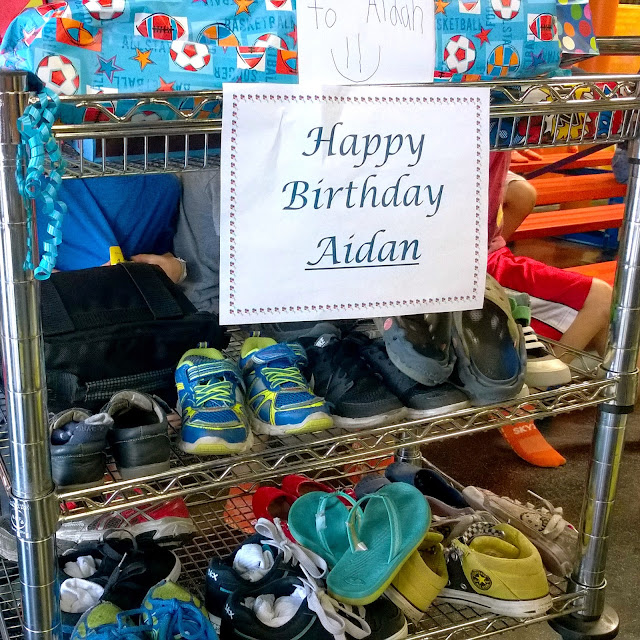 Sky Zone birthday party cart