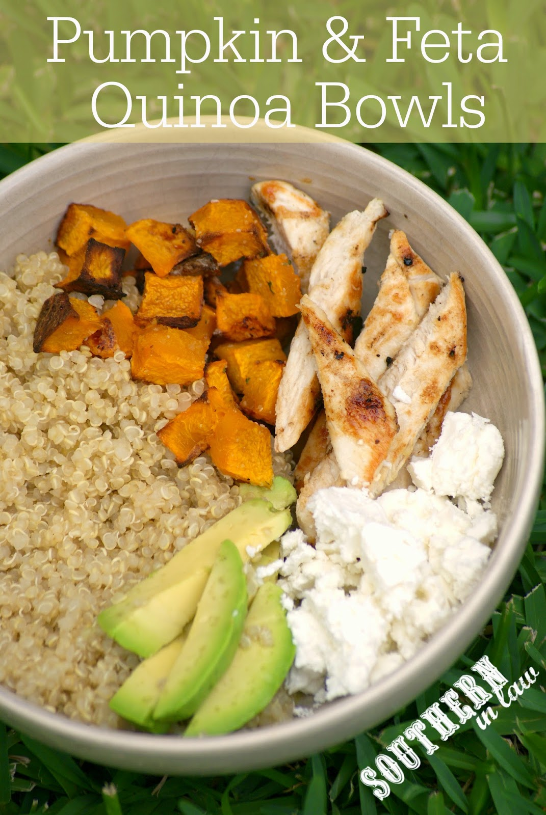Healthy Roasted Pumpkin and Feta Quinoa Bowls Recipe - low fat, gluten free, vegetarian, clean eating friendly, lower carb, high protein, healthy