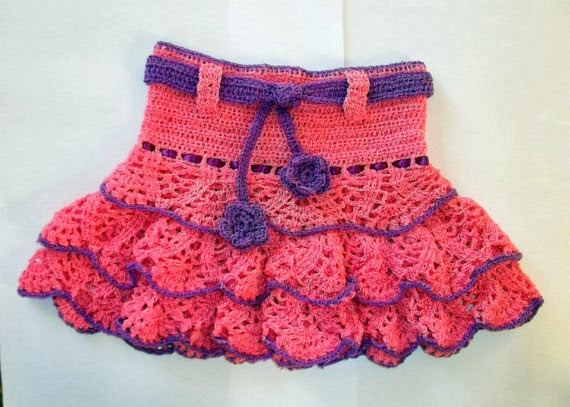 Free Crochet Ruffle Dress Patterns : Cute Designs: Ruffle Skirt Crochet Pattern