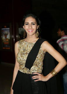 Actress Amyra Dastur Picture Gallery in Long Dress at Anekudu Audio Launch  42.JPG