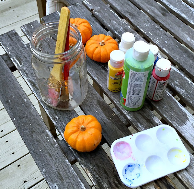 pumpkins and paint