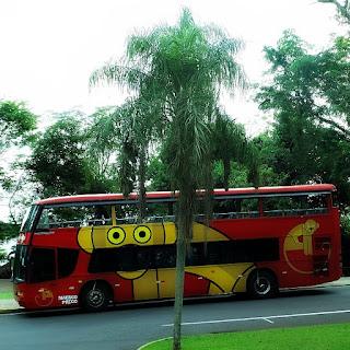 Ônibus do Parque Nacional de Iguaçu.