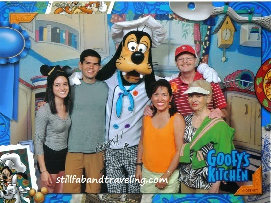 Family photo at Goofy's kitchen
