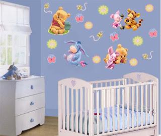 Pegatinas infantiles pegatinas baby pooh for Pegatinas habitacion infantil