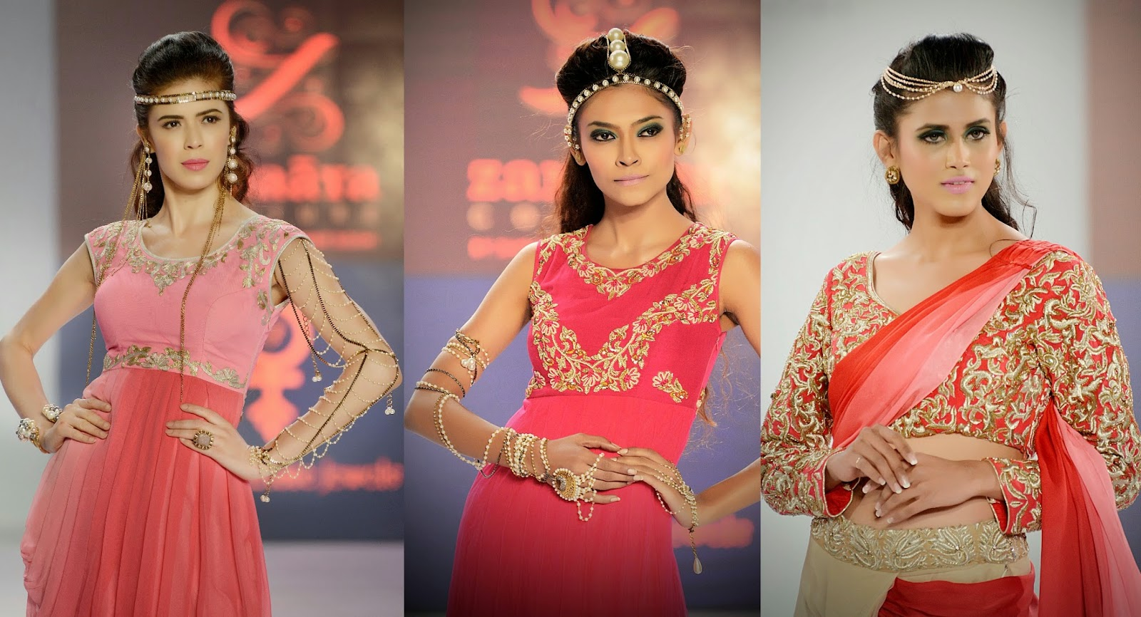 Models in Rejuvenate Jewels at Pune Fashion Week