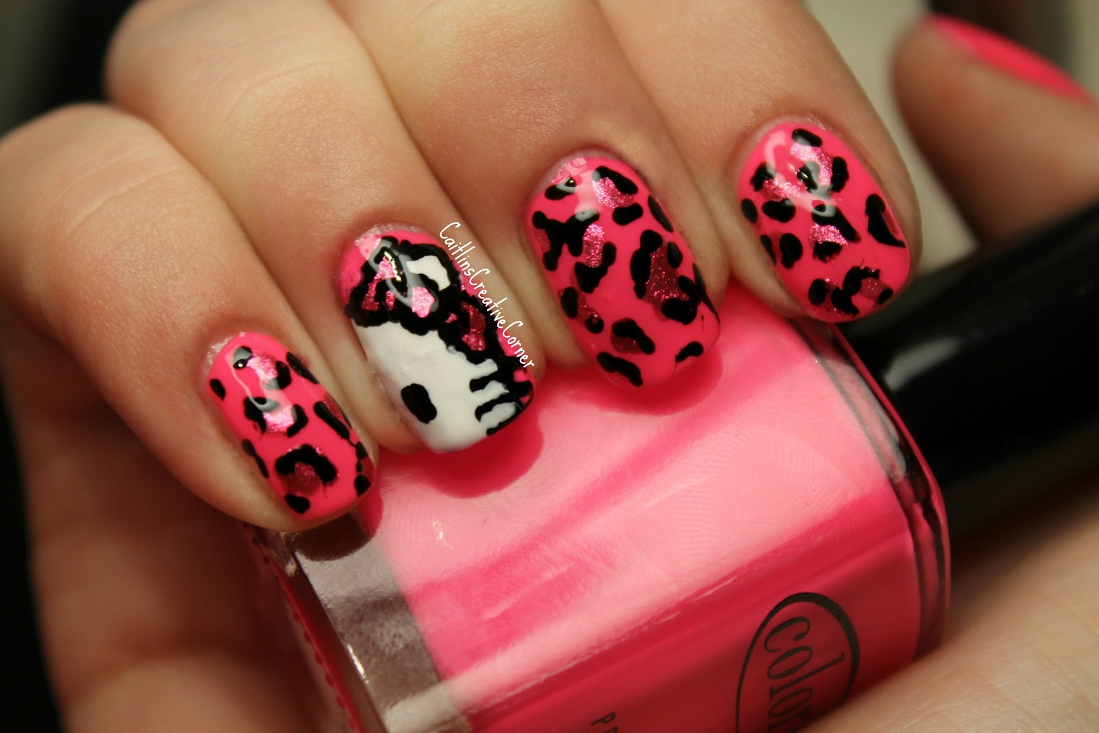 Nails Designs With Bows Hello Kitty Hello kitty nail art