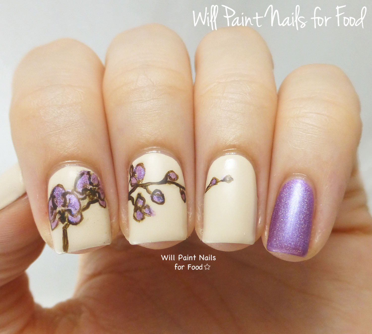 Radiant orchid nail art