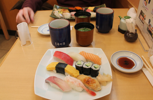 Kyoto, Japan, sushi, Kyoto train station