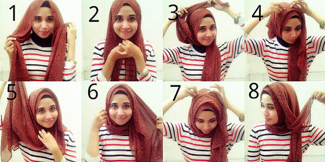 Cara memakai jilbab pashmina agar tidak tembem | Trend Model Terbaru