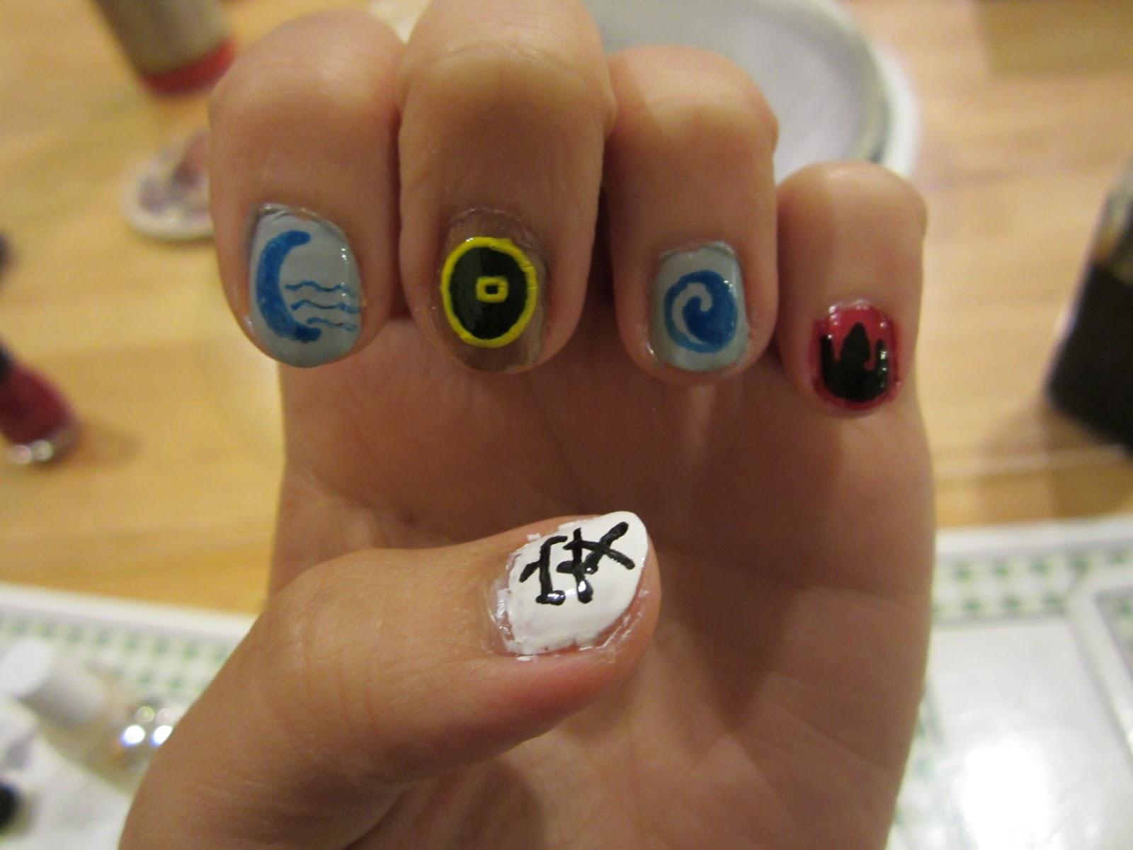 Nowhere else but here: A:TLA and LOK nail art