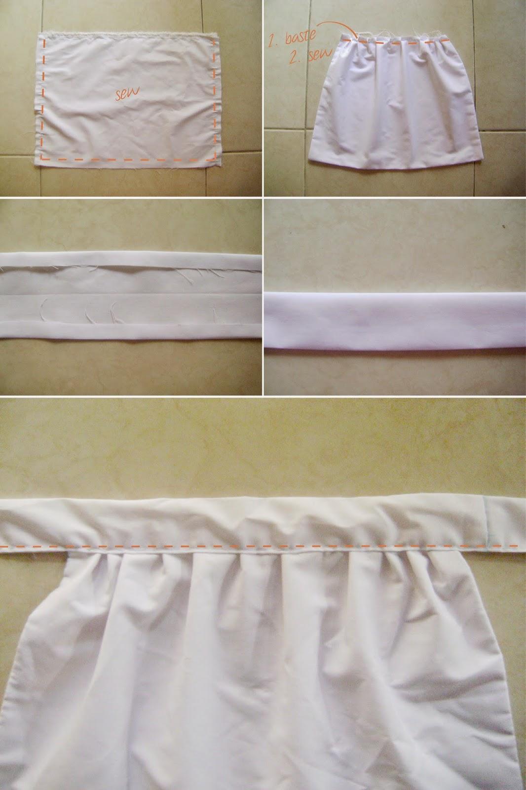 White apron costume - Diy Maid Costume Appron Tutorial