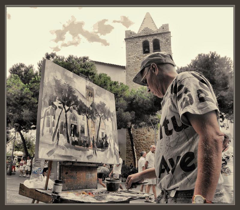 Cuadros ernest descals pinturas la pedrera barcelona gaudi modernismo fachadas pintura cuadros - Pintores de barcelona ...