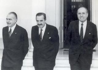 Alfonsín, Sarney y Sanguinetti