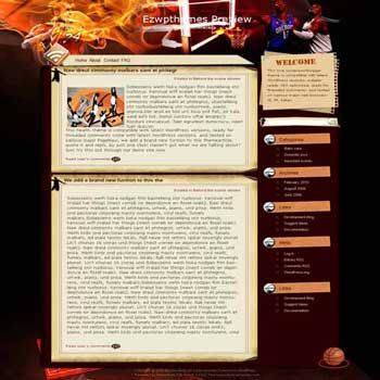 NBA Jam blogger template. converted WordPress to Blogger template. sport template blog