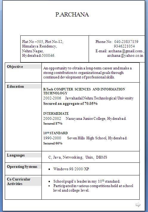 skill based resume template