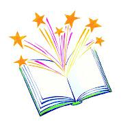 . un paquete de esferos con ricos olores y un libro de cuentos. (book)