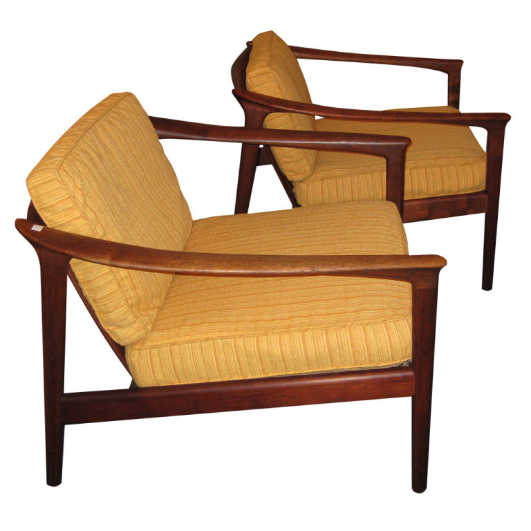 Superieur Dux Teak Arm Chairs By Folke Ohlsson, C. 1950