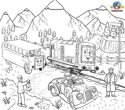 Worksheets Free Printable activities Kids coloring pages Thomas & friends Diesel Bertie the bus
