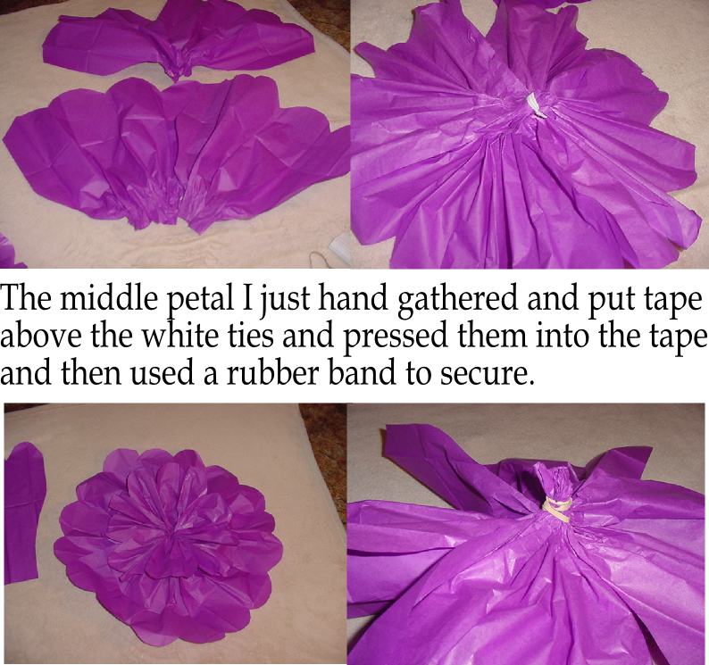 large tissue paper flowers This morning, after finishing up decorating the mantel, i realized that i should show you how to make tissue paper flowers, before i share what we did with the st.