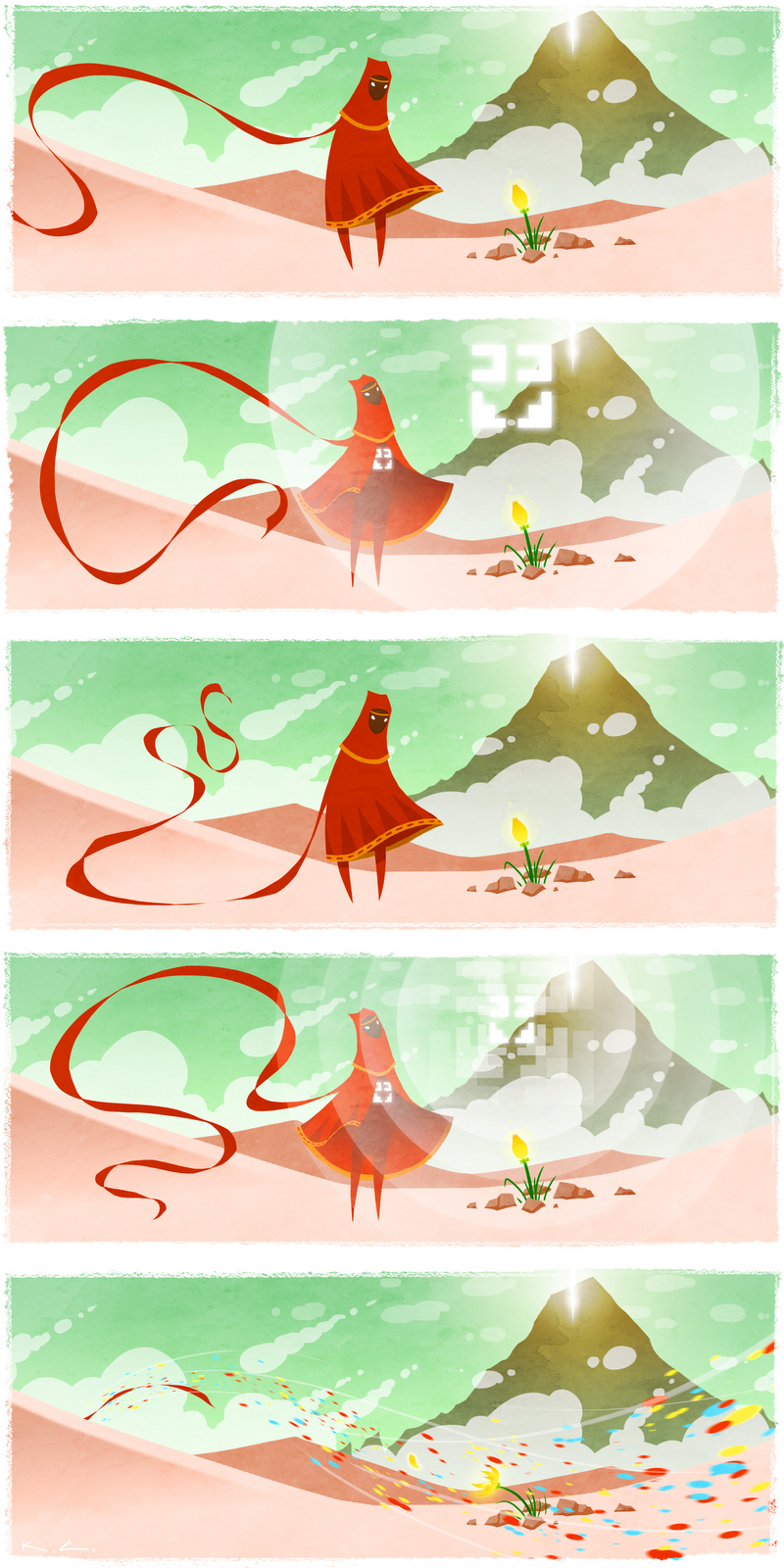 Journey & Flower comic fan art
