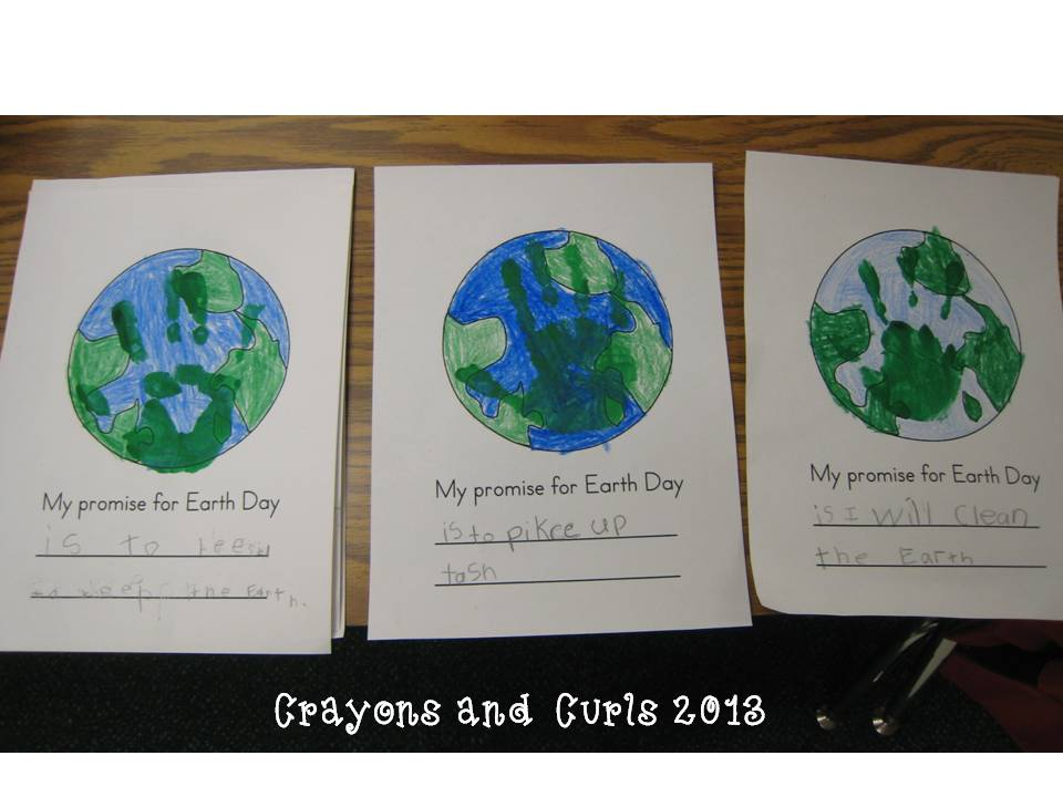 Crayons  Curls Earth Day