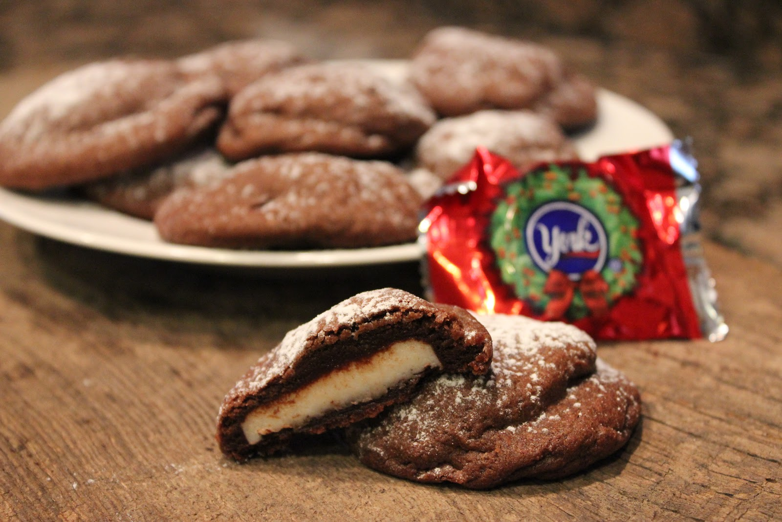 Chocolate York Peppermint Pattie Cookies