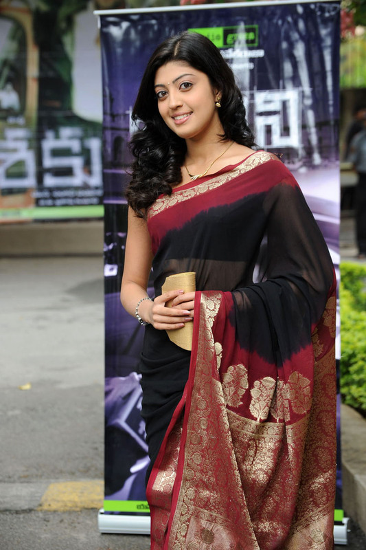 Cute Unseen Pranitha Hot and Sexy in Black saree Pretty