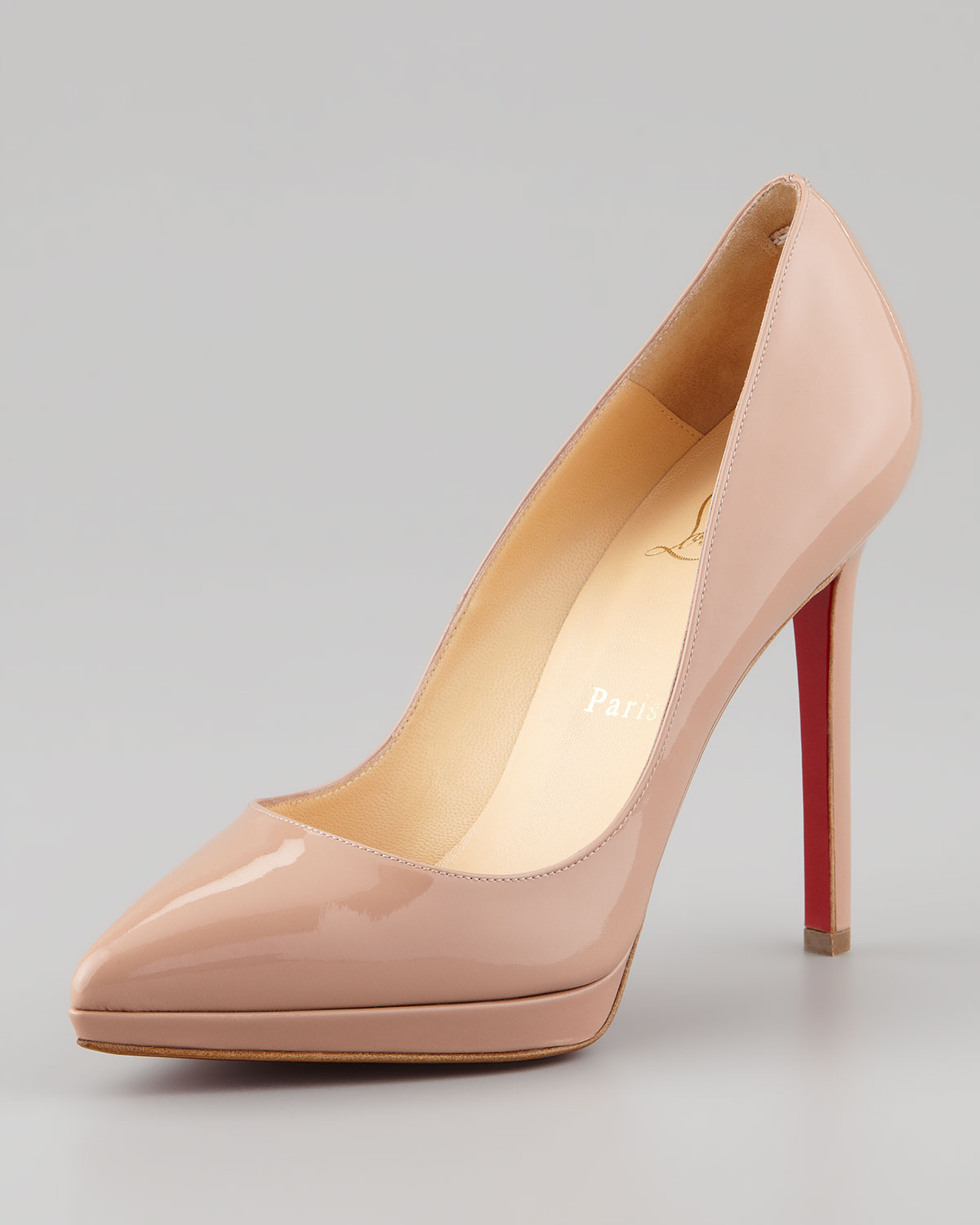 Christian Louboutin Pigalle 120mm Pointed Toe Pumps Nude
