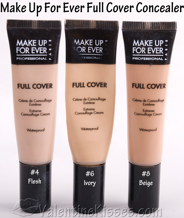 Valentine Kisses: Make Up For Ever Full Cover Concealer
