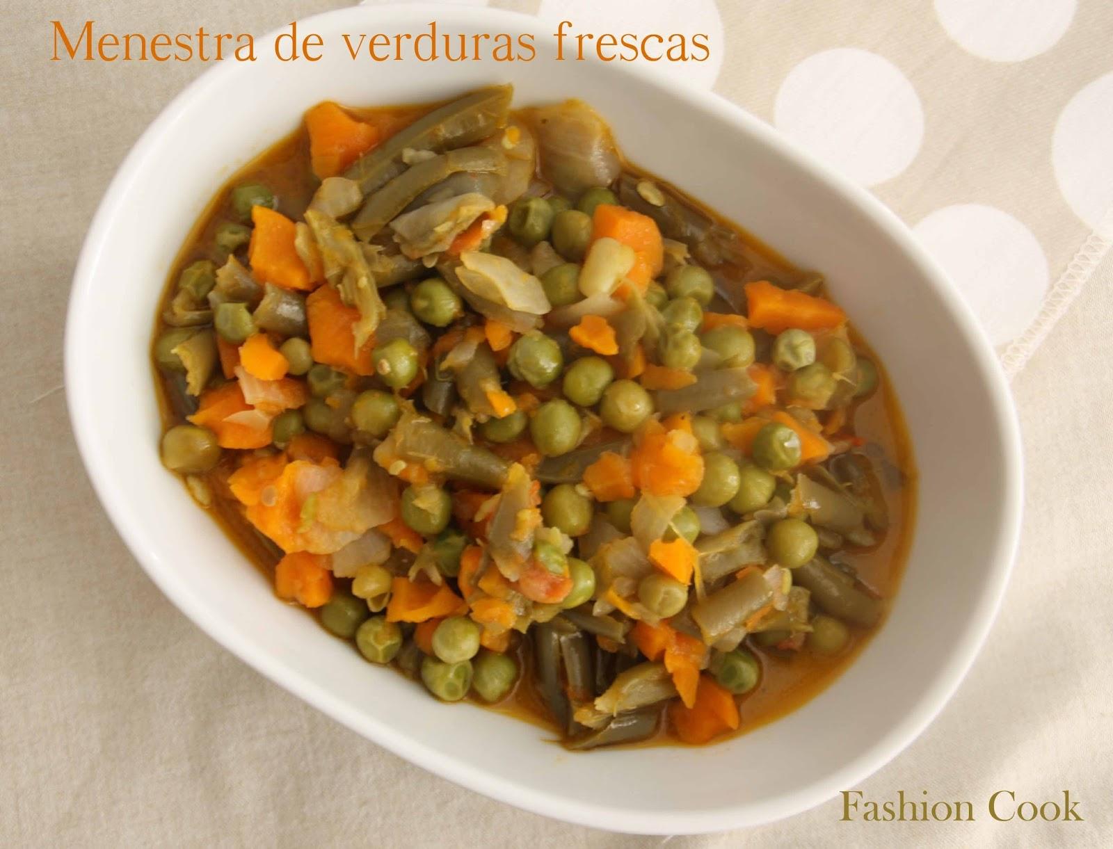 Fashion cook menestra de verduras frescas thermomix - Como preparar menestra de verduras ...