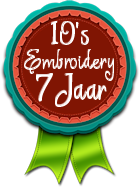 10's Embroidery 7 jaar !!