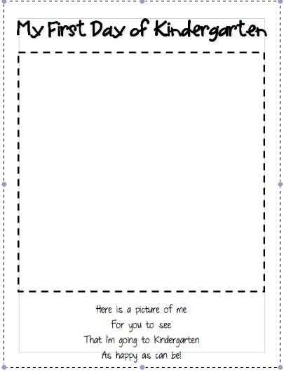 Printables First Day Of Kindergarten Worksheets Messygracebook
