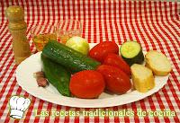 ingredientes del gazpacho andaluz