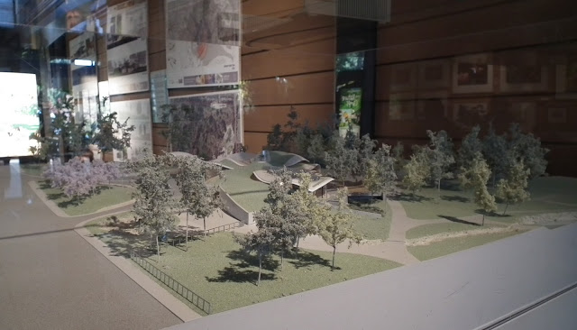 The maquette of the Visitor Centre of VanDusen Botanical Garden -Capital Project