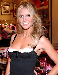 Heidi Klum German Actress in Black Dress