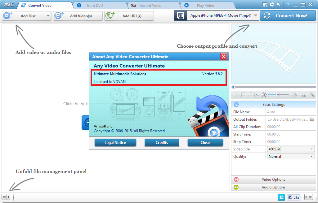 Any Video Converter Ultimate 5.8.2 + Serial Key Free Download - Download Crack All Software
