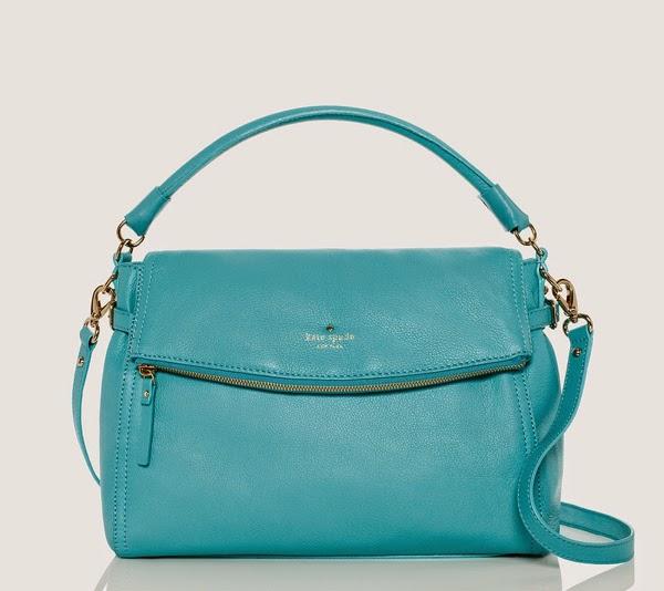 Kate Spade bright blue handbag Cobble Hill Little Minka
