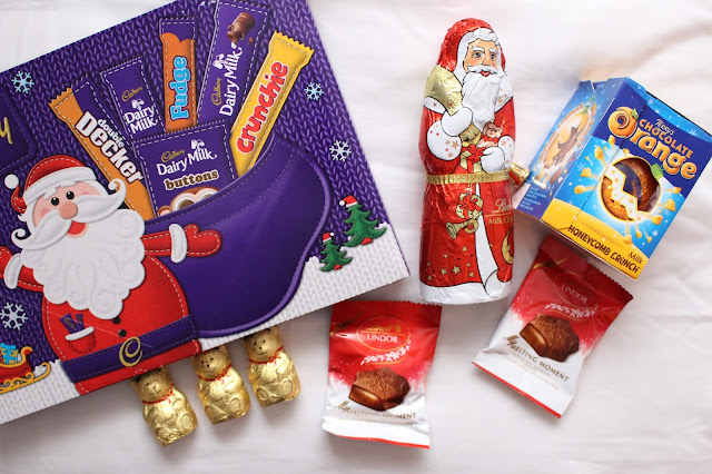 Christmas selection box chocolate Lindt Terry's chocolate orange