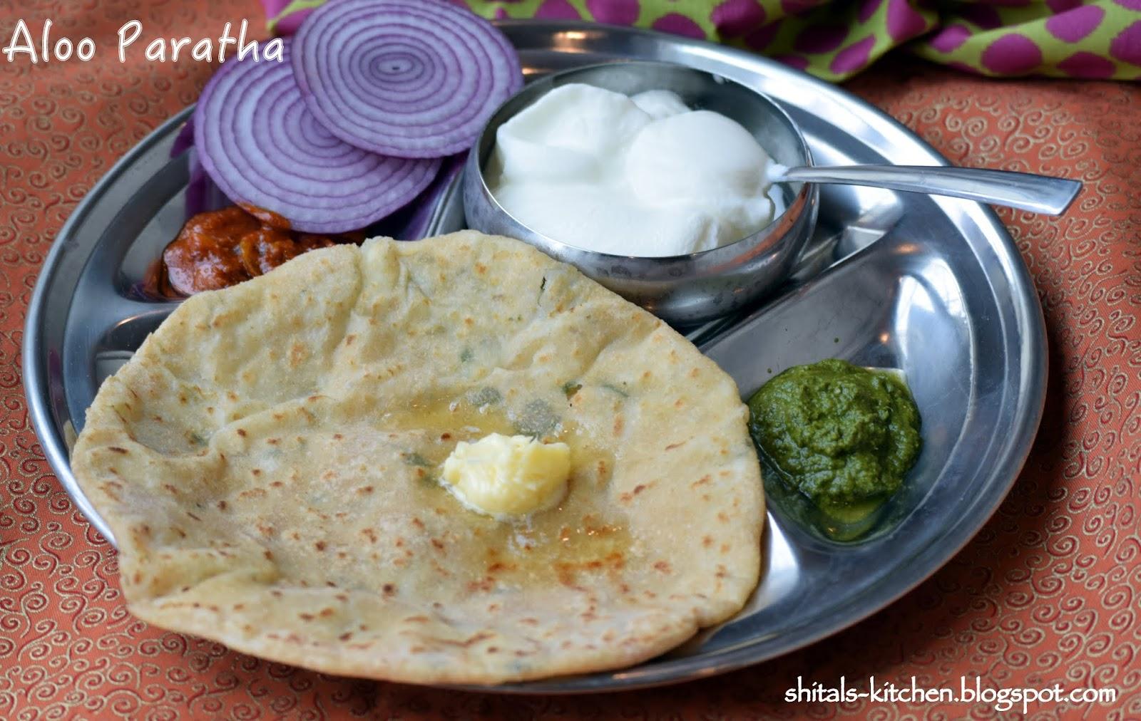 Shital's-Kitchen: Aloo Paratha/ Flat Bread Stuffed with Potatoes