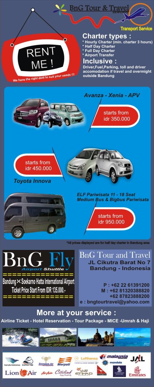 Layanan kami : Ticketing - Transportasi - Tour - Hotel - MICE - Umrah