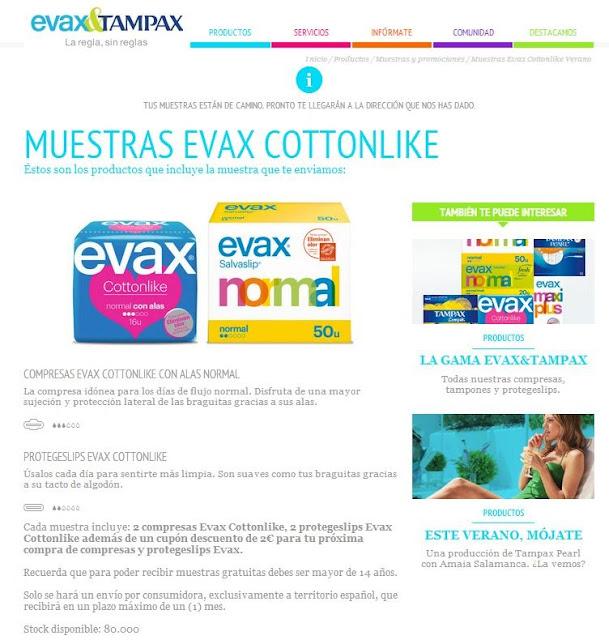 Muestras gratis Evax