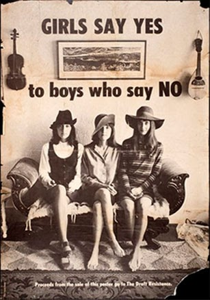 Hoe Girls Say Yes hun bandnaam kreeg - To boys who say no - Poster Oakland Museum?California