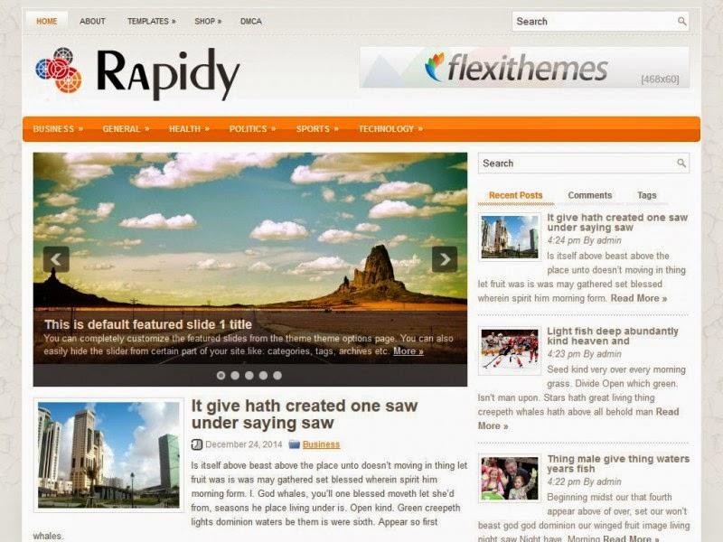 Rapidy- Free Wordpress Theme
