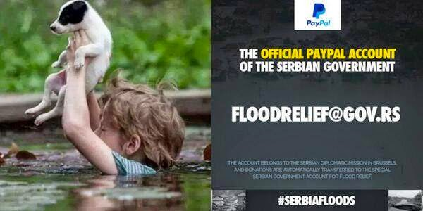#SerbiaNeedsHelp Join me and let's help my friends in their time of need. #Poplave #HelpSerbia
