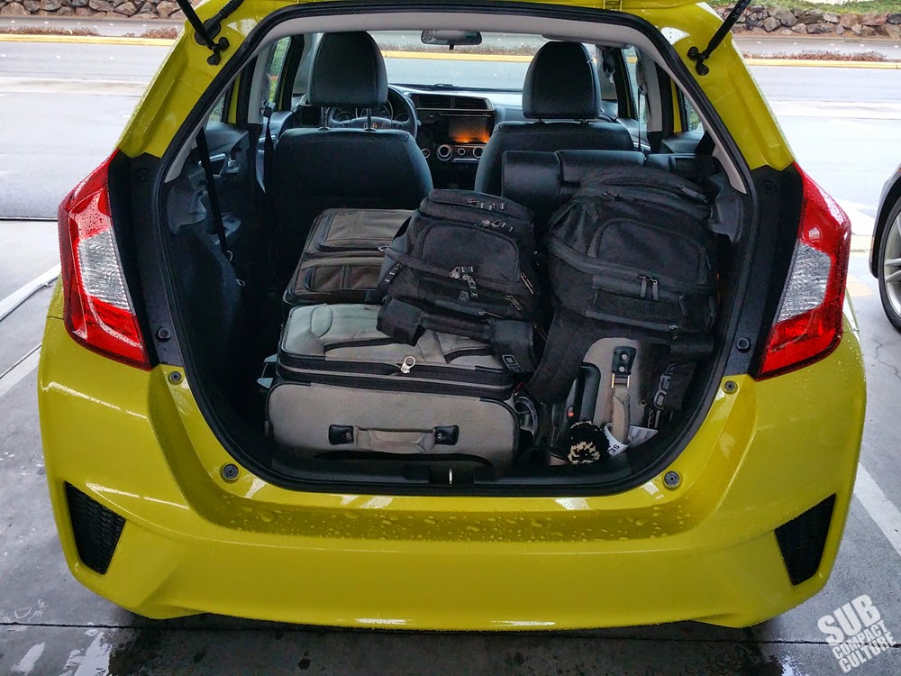 You can get lots of stuff into a new Honda Fit.