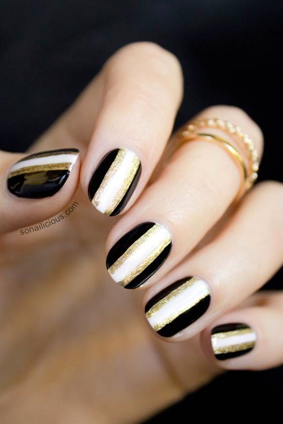 New Years Eve Nail Art Ideas As Pretty As Your Party Dresshttp