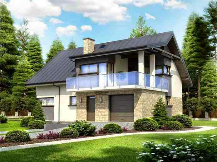 Classic and modern house 39 s romania modern cheap house for Cheap modern house plans