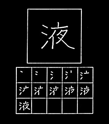 kanji cairan