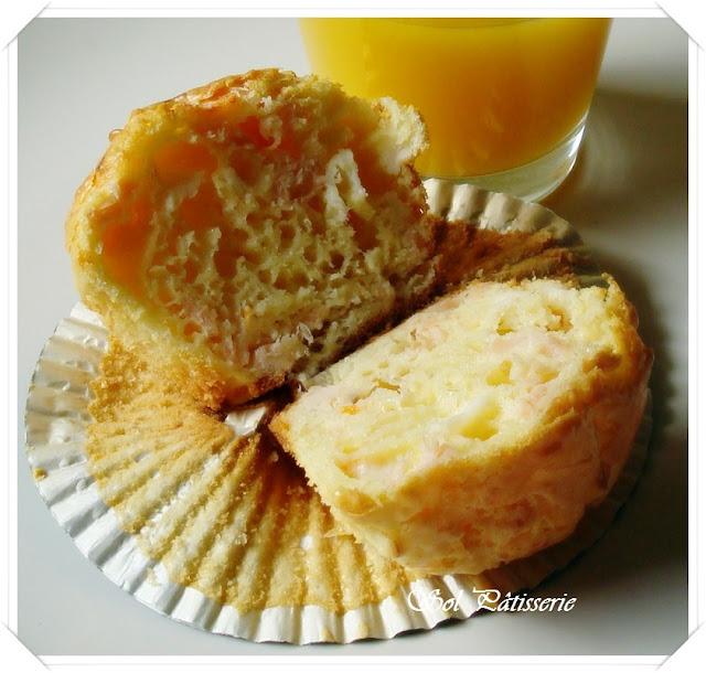 Muffins de salmão e surimi